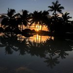 Sunset reflected in the pool!