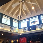 Cool ceiling fan in the atrium above the bar.