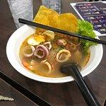 ภาพถ่ายของ ก๋วยเตี๋ยวต้มยำลำไย longan noodle soup