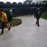 This is the picture of the beautiful main building and the way to go towards ground floor lounge of the main building. Governor Amolak Rattan Kohli