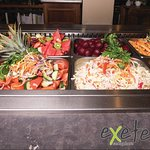 our salad bar filled with season produce