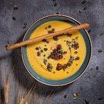 Суп  из  копченой кукурузы и тыквы