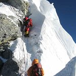 Everest Climbing Via South Col