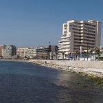 Sea front in Los Boliches. Paseo Marítimo Rey de España.