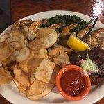 Filet w/ Jumbo Shrimp and Homemade Chips