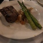 Filet with twice baked potato and asparagus