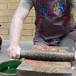 Getting a workout with a Molcajete