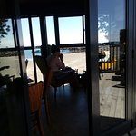Dine inside with a view to the inner harbour