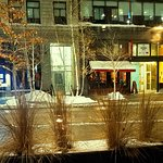 View of Nicollet Mall from our table