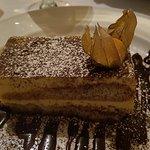 Tiramisu was moist and texture was beautiful and not too sweet