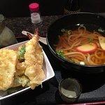 注文した天ぷらうどん。