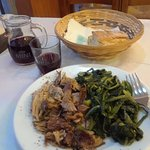 Lamb and dandelion greens. My OH My!!!