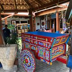 Ox cart on display