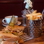 Toasted chicken sandwiches with chips only £9 amazing