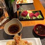 tempura and sashimi