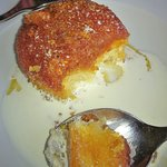 Steamed treacle pud with cream!