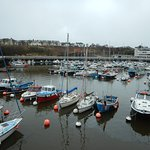 sunderland marina with the snow goose cafe in the far white building
