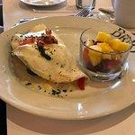 vegetable egg white omelette