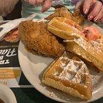 Chicken & Waffles (one more piece of chicken was added)