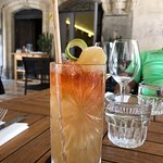 Drink with eco-friendly straw.