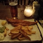 Fish & chips a classic for a british pub, very good