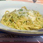 Linguini with pesto