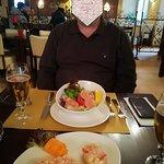 Shrim coctail salad and bruschette