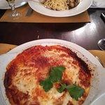 """Lasagna all' Forno, """"sunken"""" in tomato sauce ... !!"""