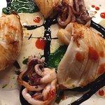 mini - brioches di calamari,lime e kimchi