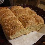 Lovely warm crusty bread.
