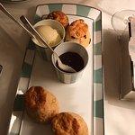 Scones, fruit & plain jam & clotted cream