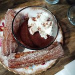 The portion of churros looks large but trust me, you will finish it and then use a spoon to mop
