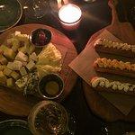 Сырная тарелка и эклеры