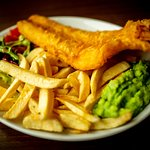 Award-winning Fish and Chips. Gluten-free always available. Just ask!