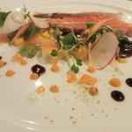 Organic lightly cured salmon starter