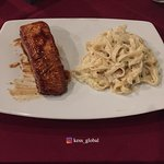 My partner had this caramelized grilled Salmon with pasta. it was incredibly good.