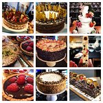 An incredible range of superb cakes baked on site for takeaway and bespoke cake service for events and weddings
