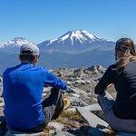 Un descanso frente a los volcanes