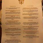 Food Menu - back page
