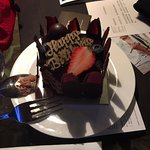 Complimentary bday cake.  YUMMY.