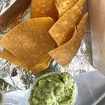 Home made chips and guacamole