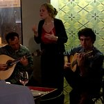 This is Sofia Saragoca and fellow Fado players at the Povo Bar & restaurant in March 2019. Very