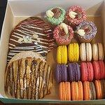 Christmas package - cookies, macarons, cookie shots
