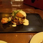 Fried green tomato lobster cake