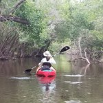 Heading downstream on Little Manatee River from Canoe Outpost.