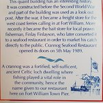 Information about the Crannog Restaurant