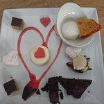 Valentine's dessert platter (delicious!)