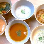 We serve 6 different soups everyday, changes by season