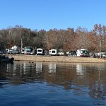 Just some of the Lakeside campsites from Lake Taneycomo.