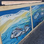Normanville Kiosk and Cafe nore artwork on access to jetty
